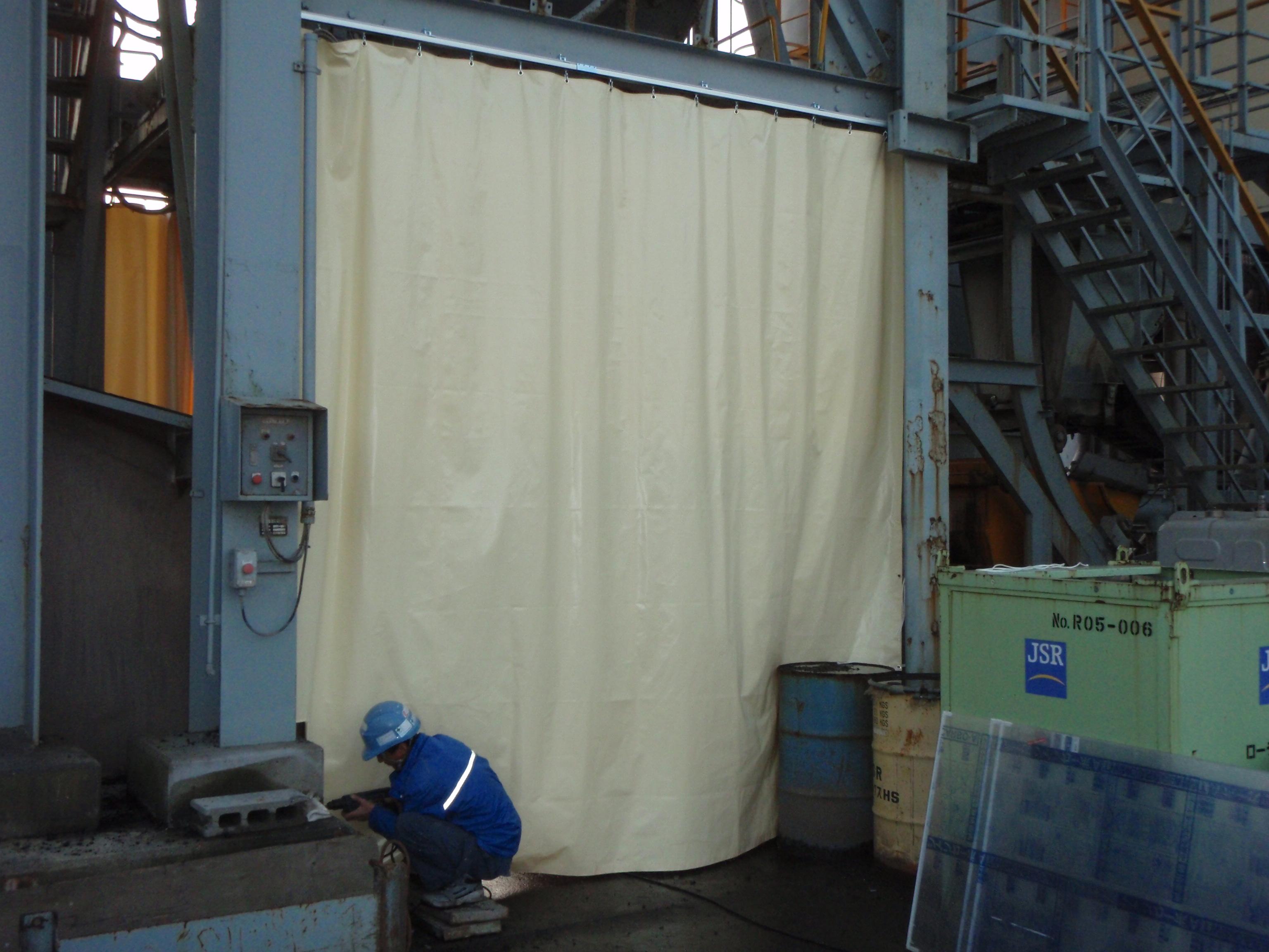 工場間仕切カーテン