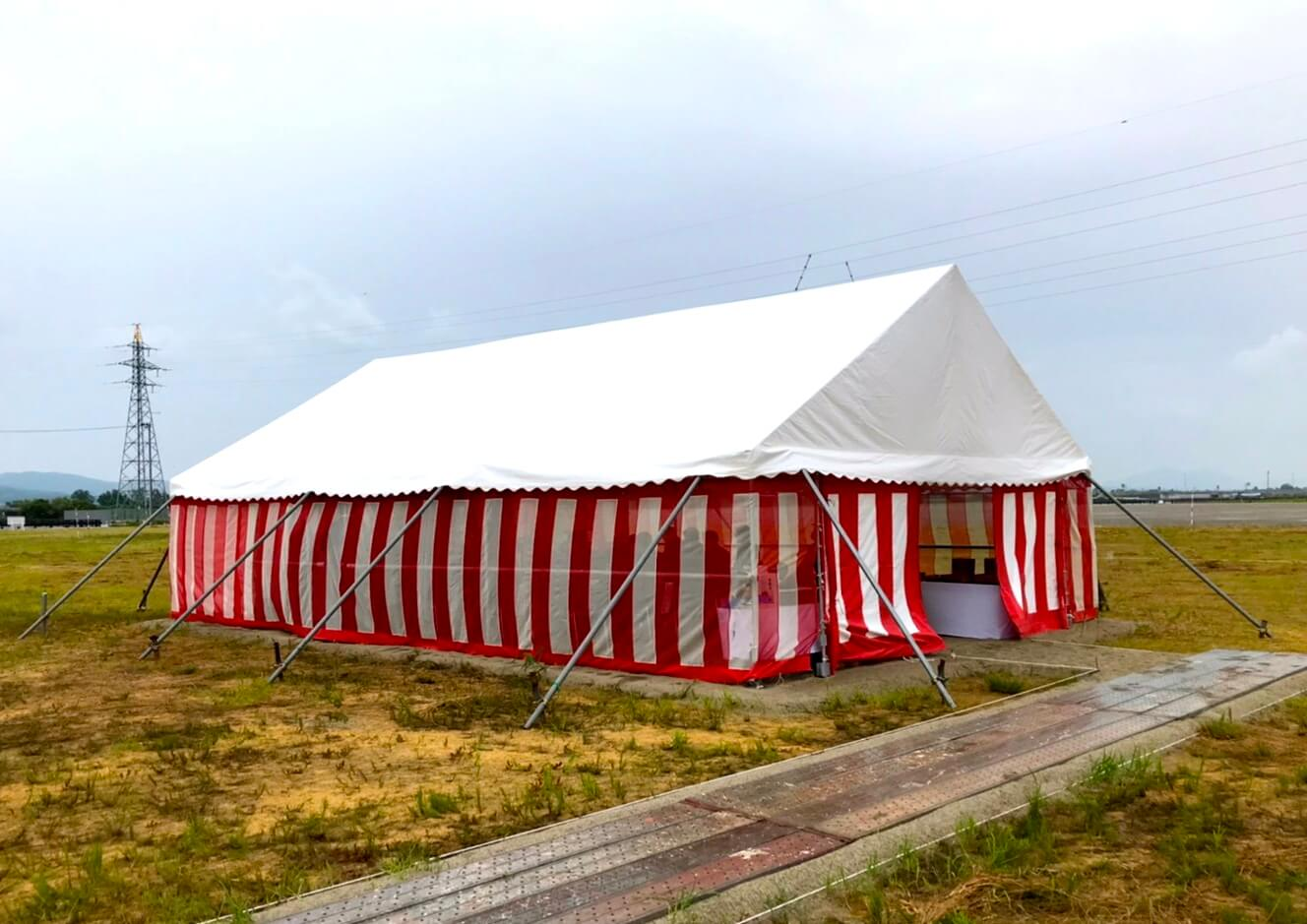 地鎮祭会場テント