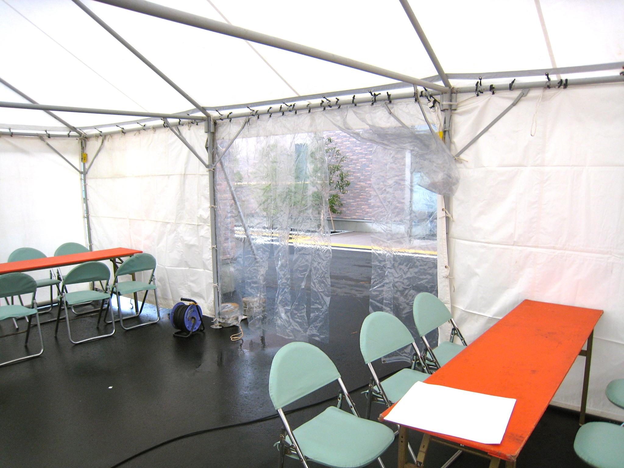 災害時用テント
