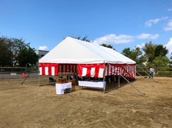 地鎮祭テント