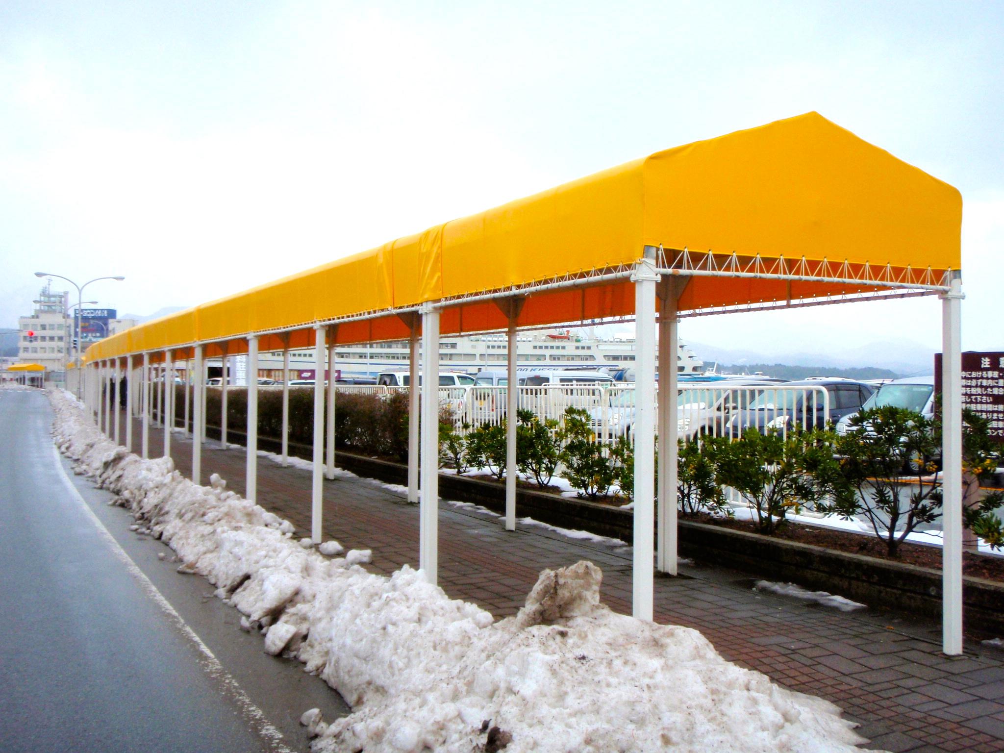 通路屋根テント