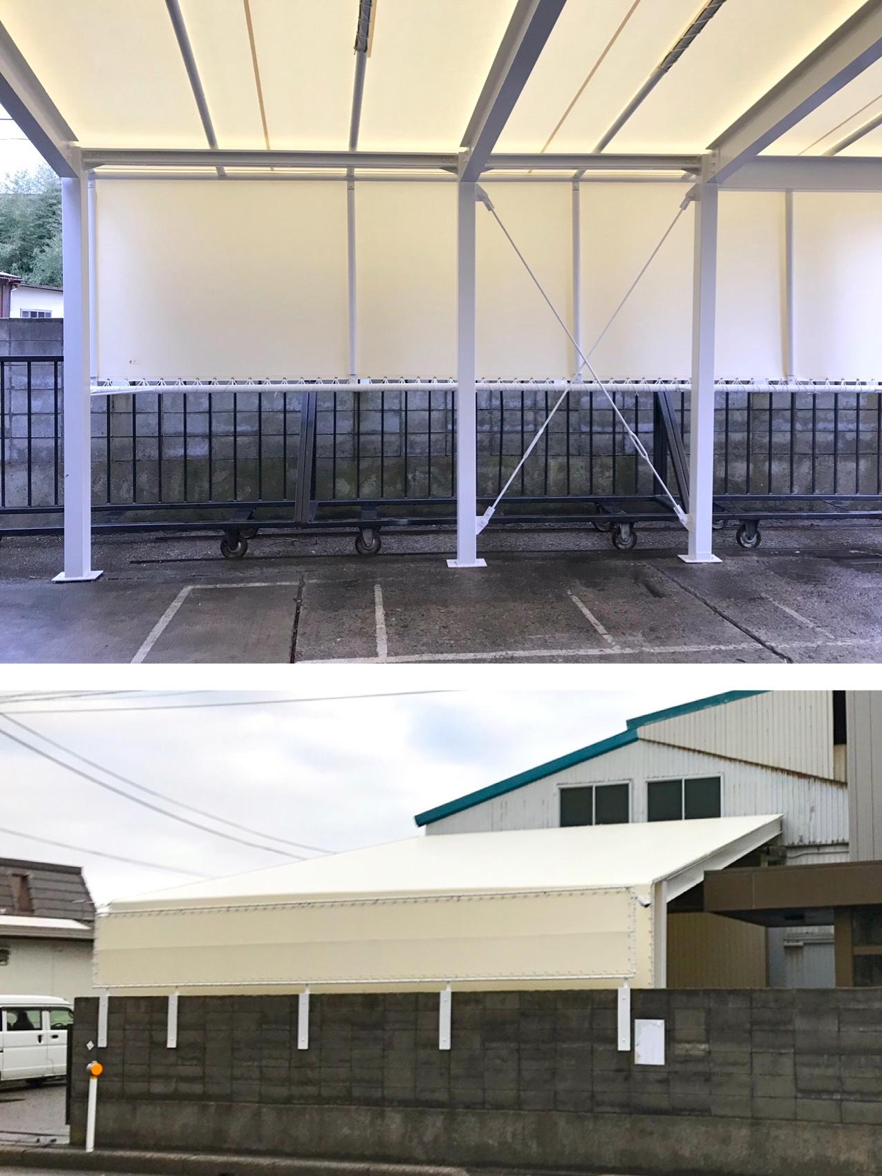 荷捌き屋根テント
